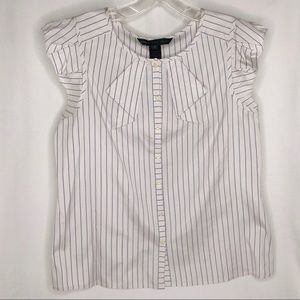Marc by Marc Jacobs white pinstriped blouse/top 4